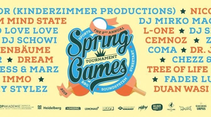 Spring Games In Heidelberg am 30.5.2015